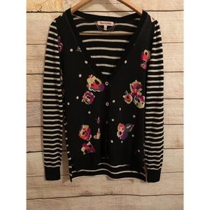 Juicy couture floral cardigan